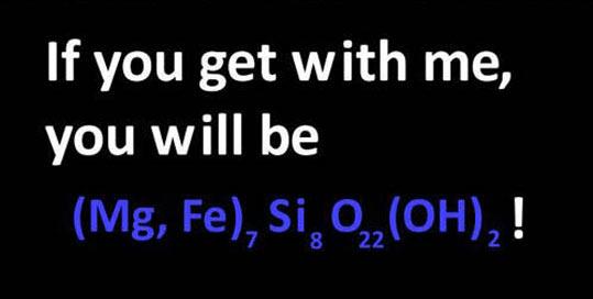 Font - If you get with me, you will be |(Mg, Fe), Si, O(0H), ! 22 8