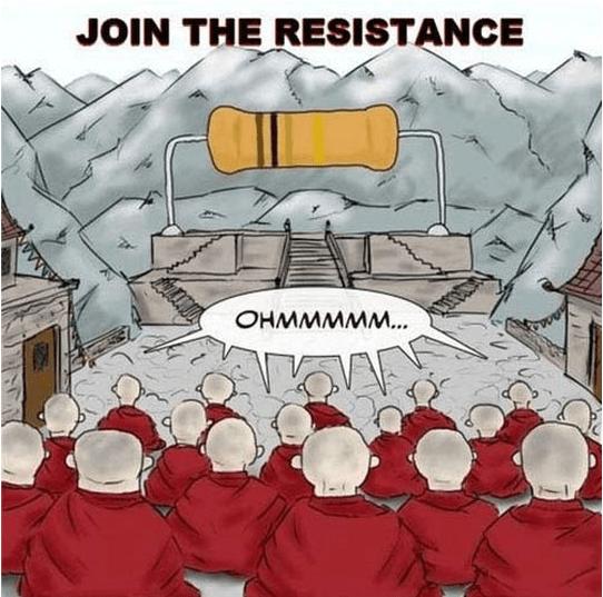 Cartoon - JOIN THE RESISTANCE OHMMMMM.. ww