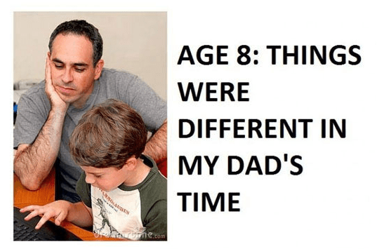 People - AGE 8: THINGS WERE DIFFERENT IN MY DAD'S TIME ne.com