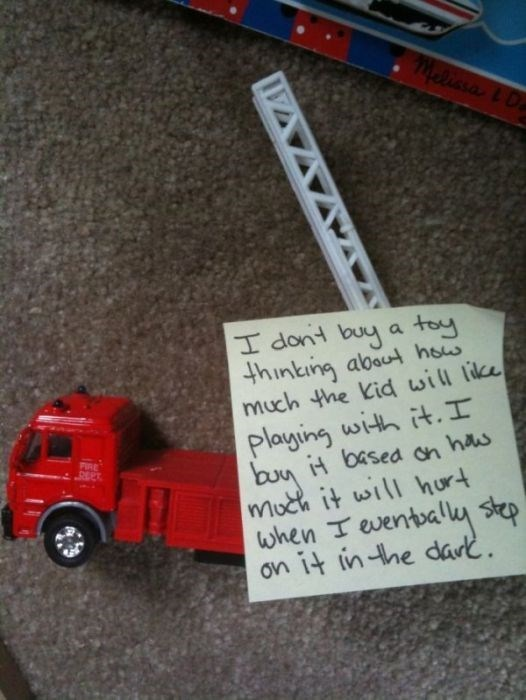 Vehicle - lissa l D toy I dont buy thinting abou hos much the Kid will like Playing with it.I H basea on has a FIRE DEPT moch it will hur when Teventbaly step on it in-he dark