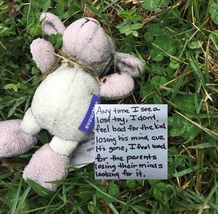 Stuffed toy - ANY lost ty, Tdont feel bad for hekd time I seea MATERAL NE losing his mind cuz REs gone, Teel oad Br the parents losing their minds lookng for it.