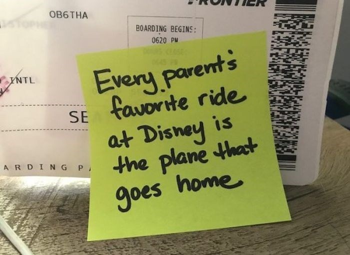 Text - OB6THA BOARDING BEGINS: 0620 Pu Every parents SE favorite ride is at Disney A RDING P the plane that YNTL goes home
