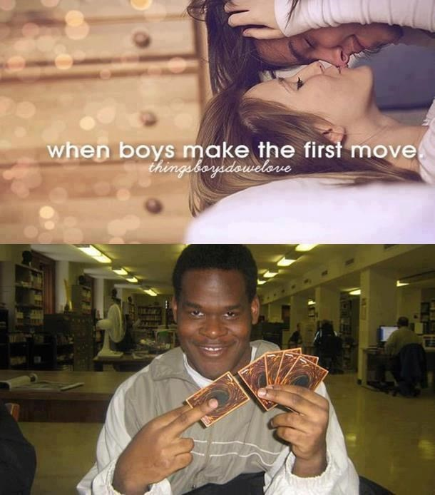 Photo caption - when boys make the first move thingebagadowelove