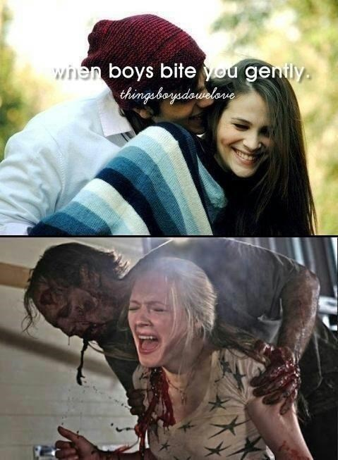 Cool - when boys bite you genily. thingboyedowalone