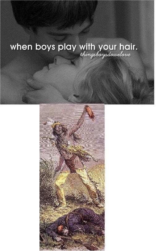 Text - when boys play with your hair. thingebeyedowelore