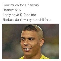barber fam meme about getting a discounted haircut