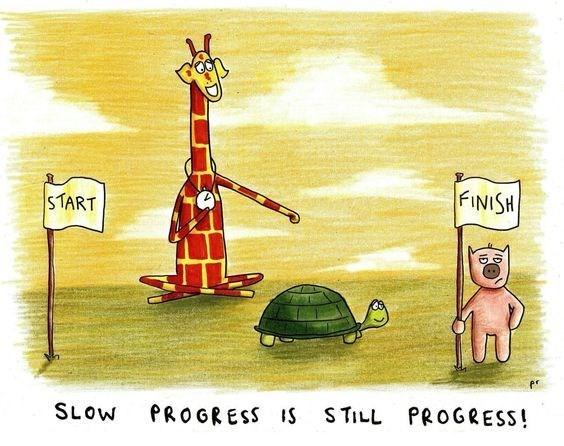 Giraffe - FINISH START SLOW PROGRESS IS STILL PROGRESS!