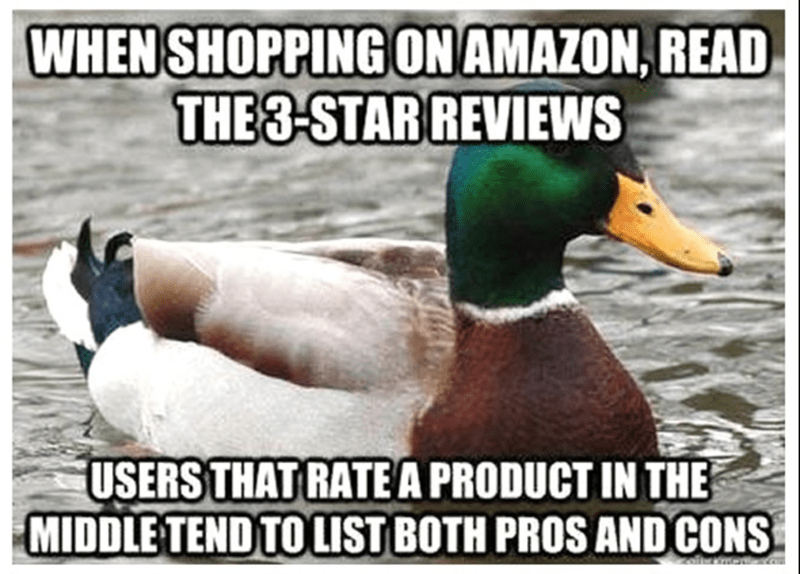 Duck - WHEN SHOPPING ONAMAZON, READ THE3-STARREVIEWS USERSTHAT RATEA PRODUCT IN THE MIDDLE TENDTO LIST BOTH PROS AND CONS