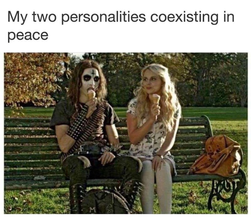 Text - My two personalities coexisting in peace