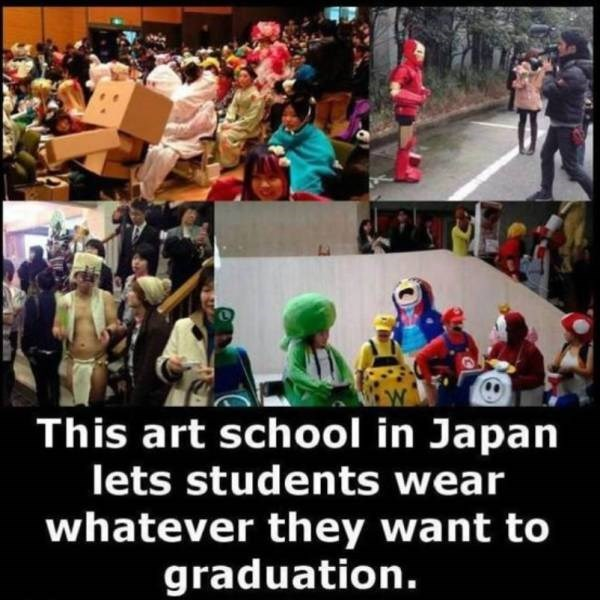 People - This art school in Japan lets students wear whatever they want to graduation.