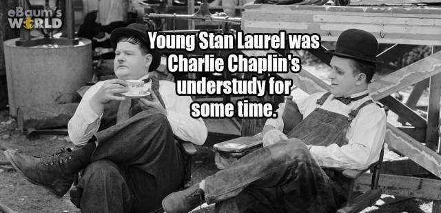 Sitting - eBaum's WERLD Young Stan Laurel was Charlie Chaplin's understudy for some time