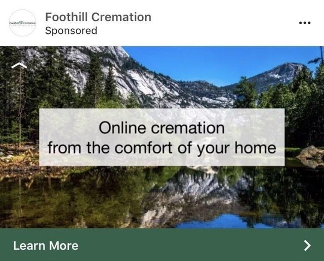 Natural landscape - Foothill Cremation Sponsored Online cremation from the comfort of your home Learn More
