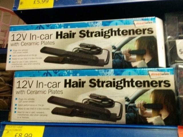 Hair iron - £5 restls 12V In-car Hair Straighteners with Ceramic Plates strestuize 12V In-car Hair Straighteners with Ceramic Plates he dy mites sher AORAI AGHTERNERS f8.99