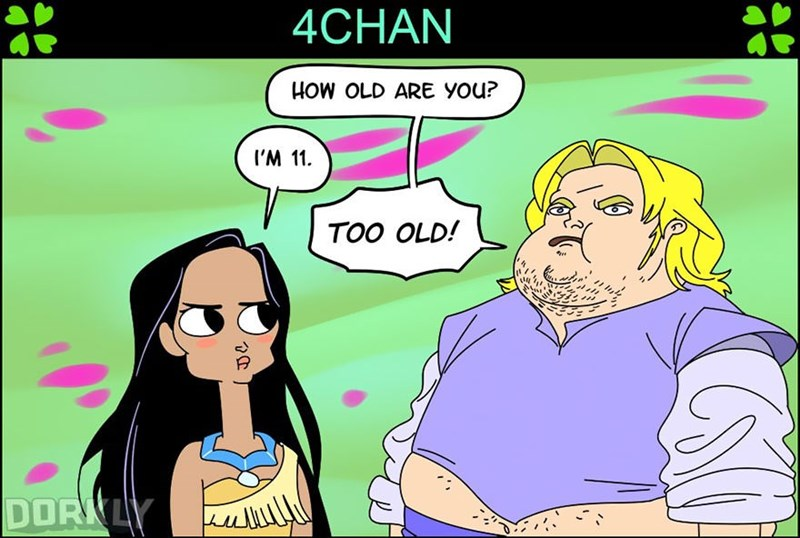 Cartoon - 4CHAN HOW OLD ARE YOu? I'M 11 TOO OLD! DOR LY