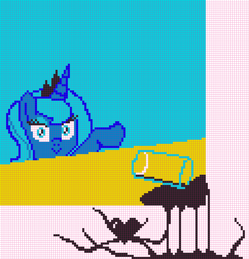 chocolate milk princess luna pixel art - 9179968256
