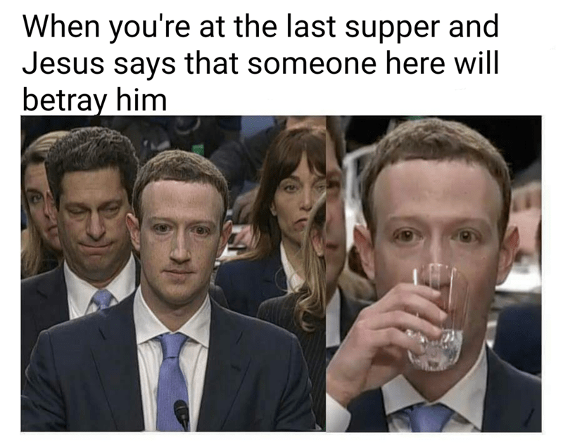meme - Face - When you're at the last supper and Jesus says that someone here will betray him