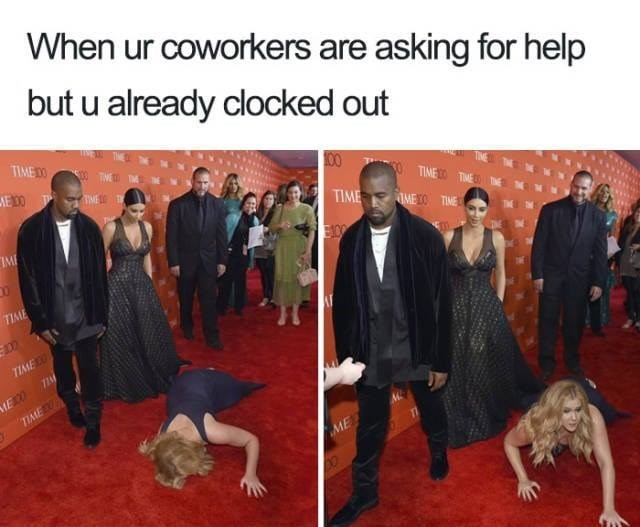 meme - Adaptation - When ur coworkers are asking for help but u already clocked out TIME ME100 00 TP TIME TIME TIME IMEO TIME IME EOO TIME TIAEO ME0 TIME ME