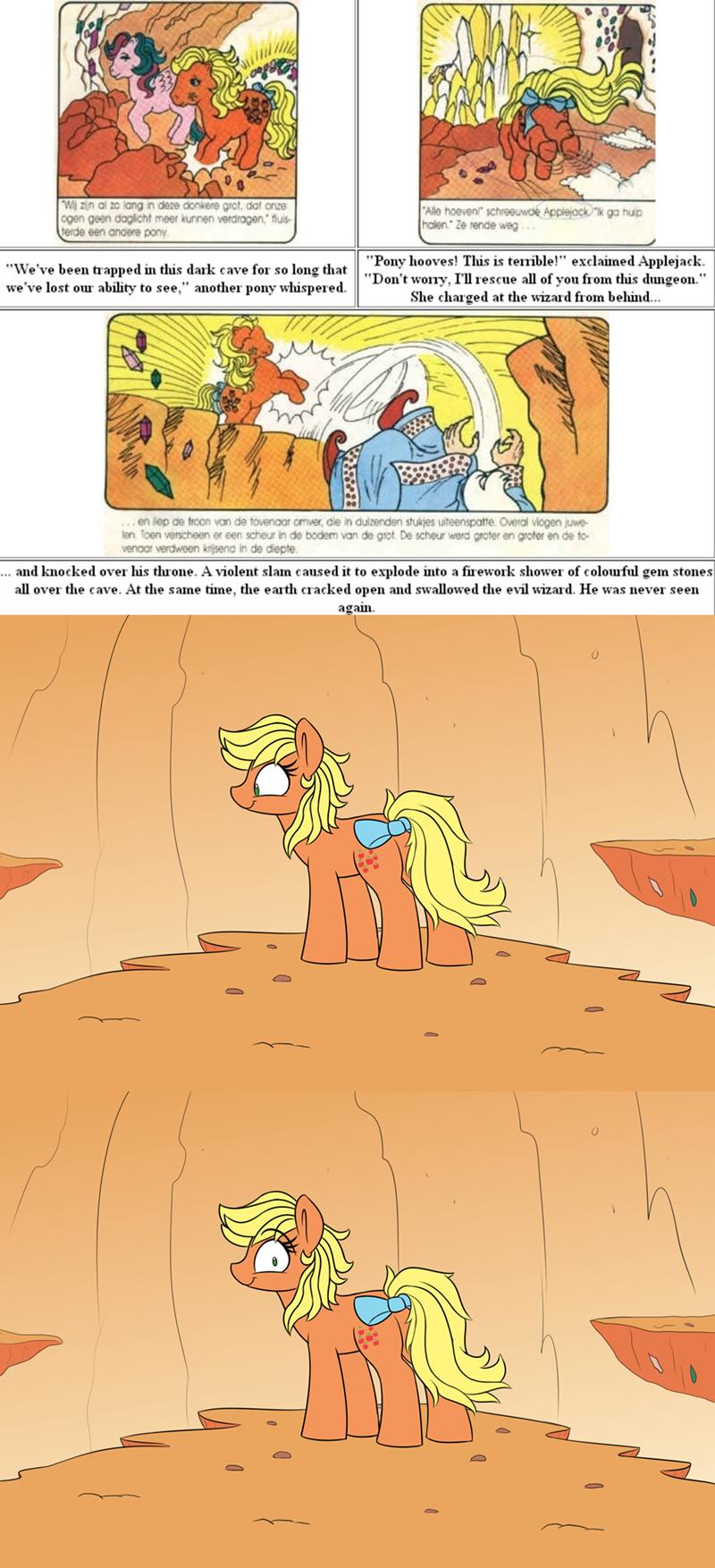 applejack applejack's amazing adventure g1 comic heir of rick - 9180477952