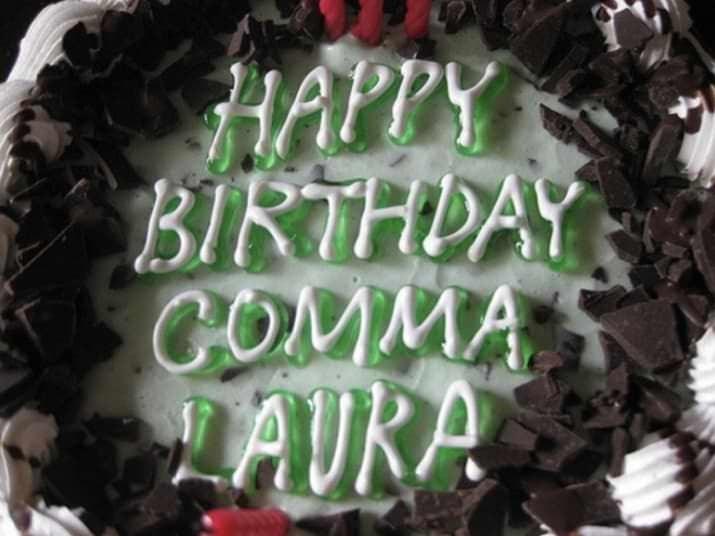 Cake - HAPPY BIRTHDAY СOMMA LAURA