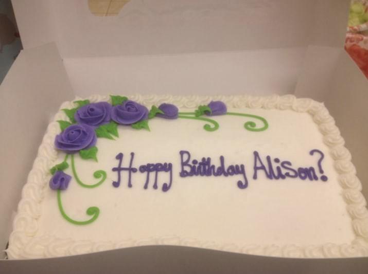 Cake - H Batday Alisenl