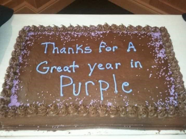 Cake - Thanks for A Great year in Purple