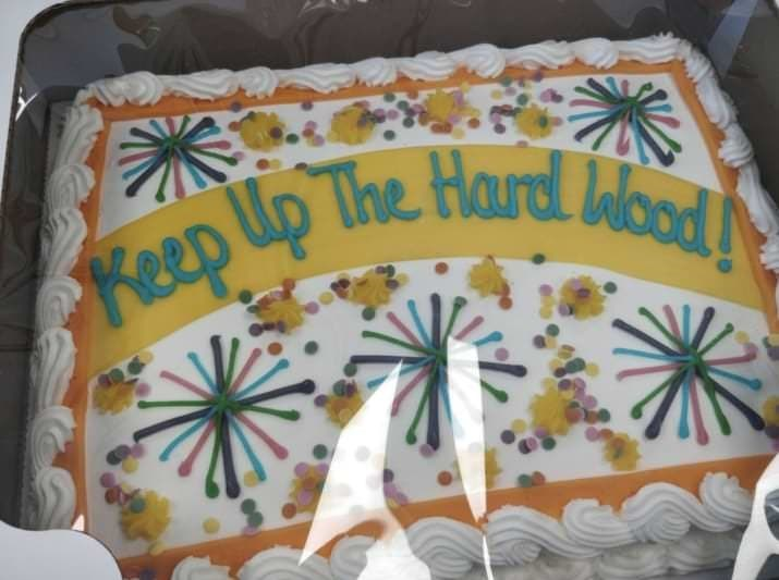 Cake decorating - Reep Up The Hard Wood