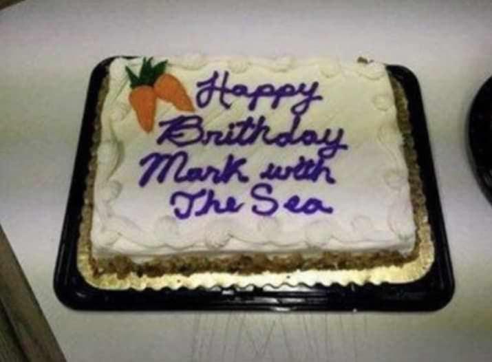 Cake - tappy Brithday mark wi Ohe Sea