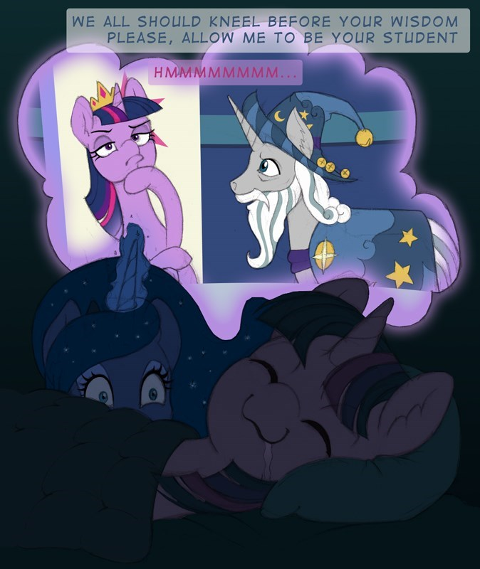 starswirl the bearded gor1ck twilight sparkle princess luna - 9180697088