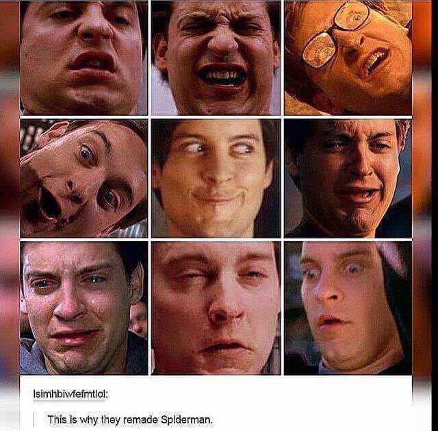 dank meme about why they remade spiderman