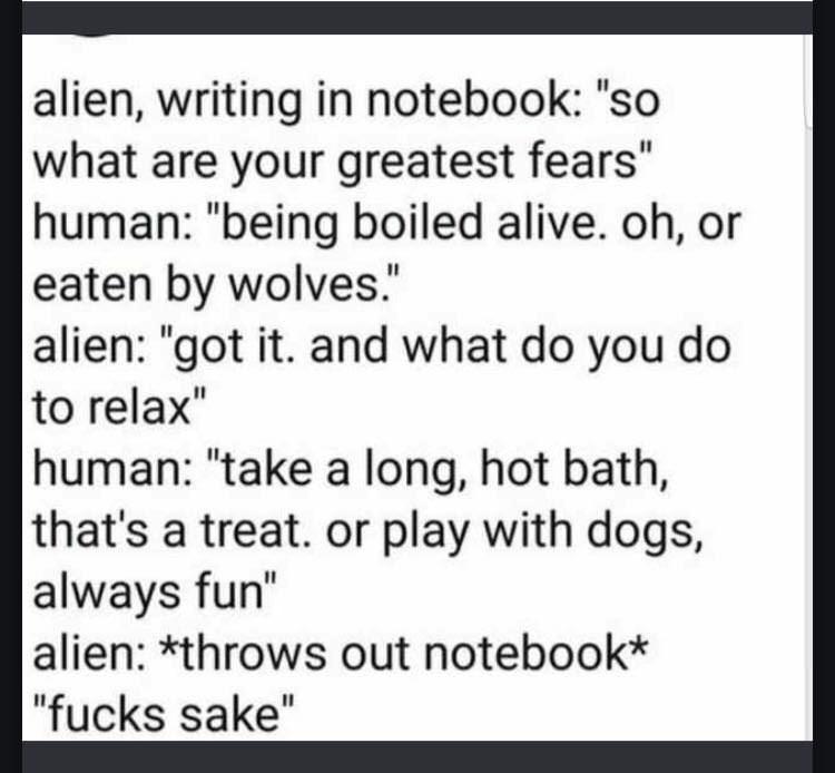 dank meme about alien trying to wrap his head around human behavior