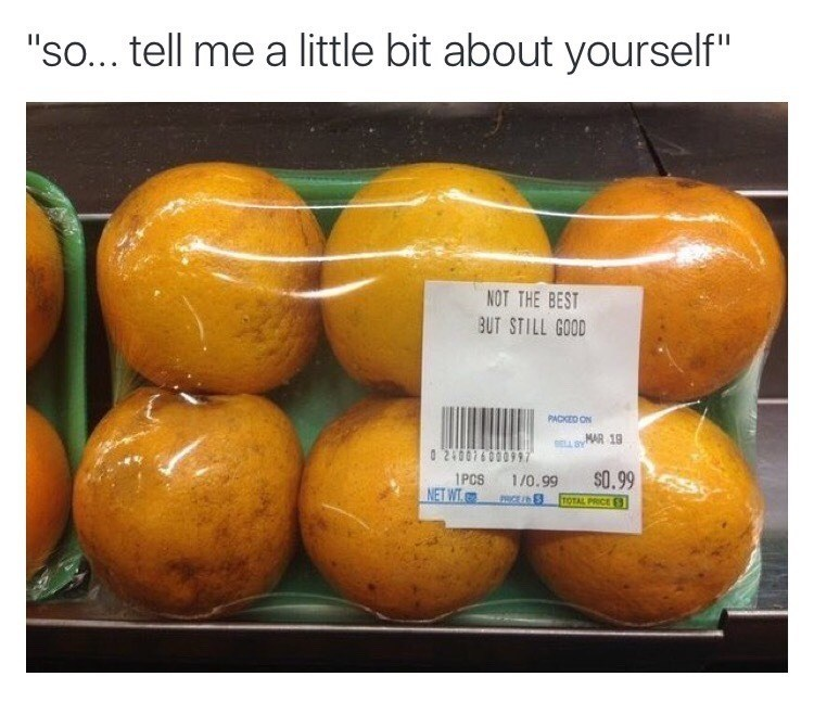 Funny meme about oranges, not the best but still good.