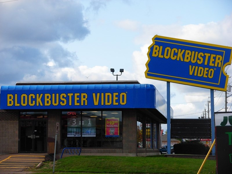 Building - BLOCKBUSTER VIDEO BLOCKBUSTER VIDEO OPEN 3 1 $19 99 Tuesday Only NOVIES DRIVE IHH