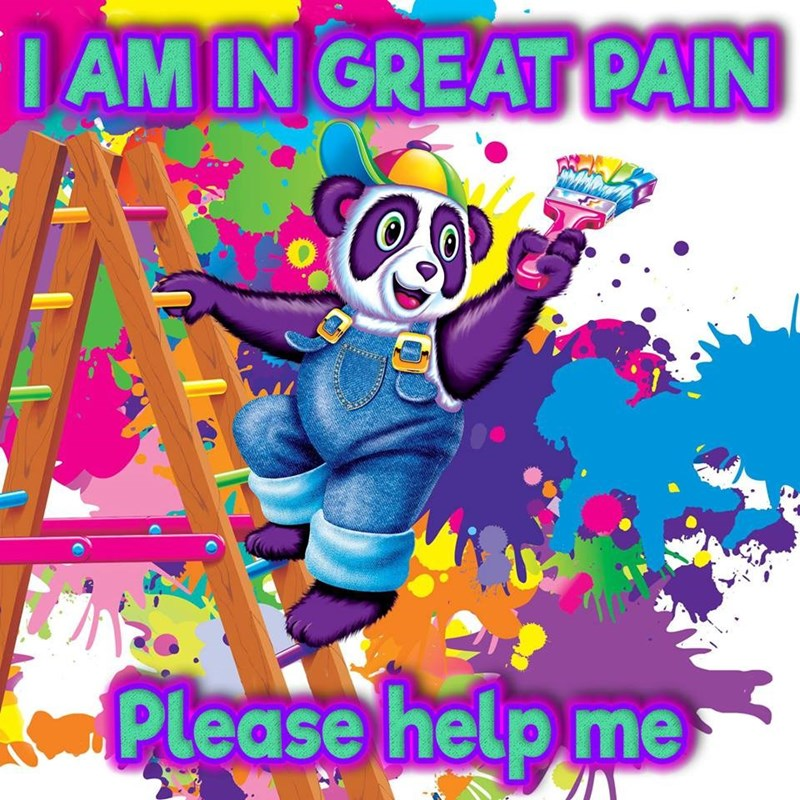 Clip art - IAM IN GREAT PAIN Please help me