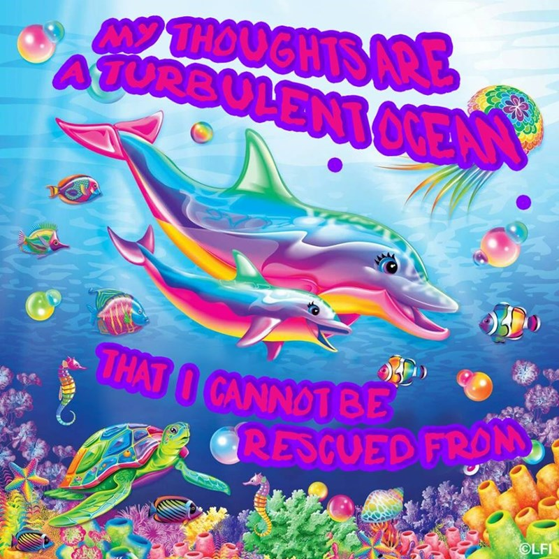 Fish - THOUGHTS ARE M ATURRULENT CEAN THAT I CANNOT BE GRESCUED FRON OLFI