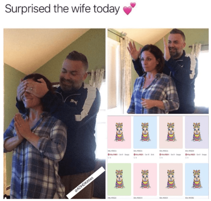 Text - Surprised the wife today p @ADHDKitties