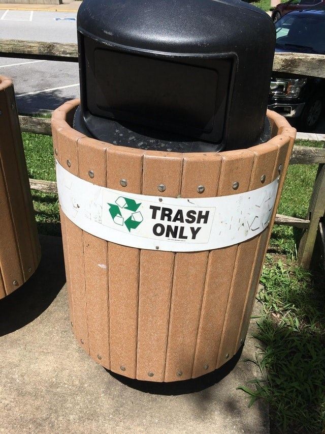 Waste container - TRASH ONLY