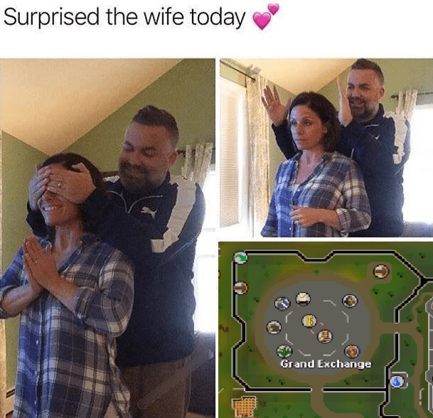 Face - Surprised the wife today Grand Exchange