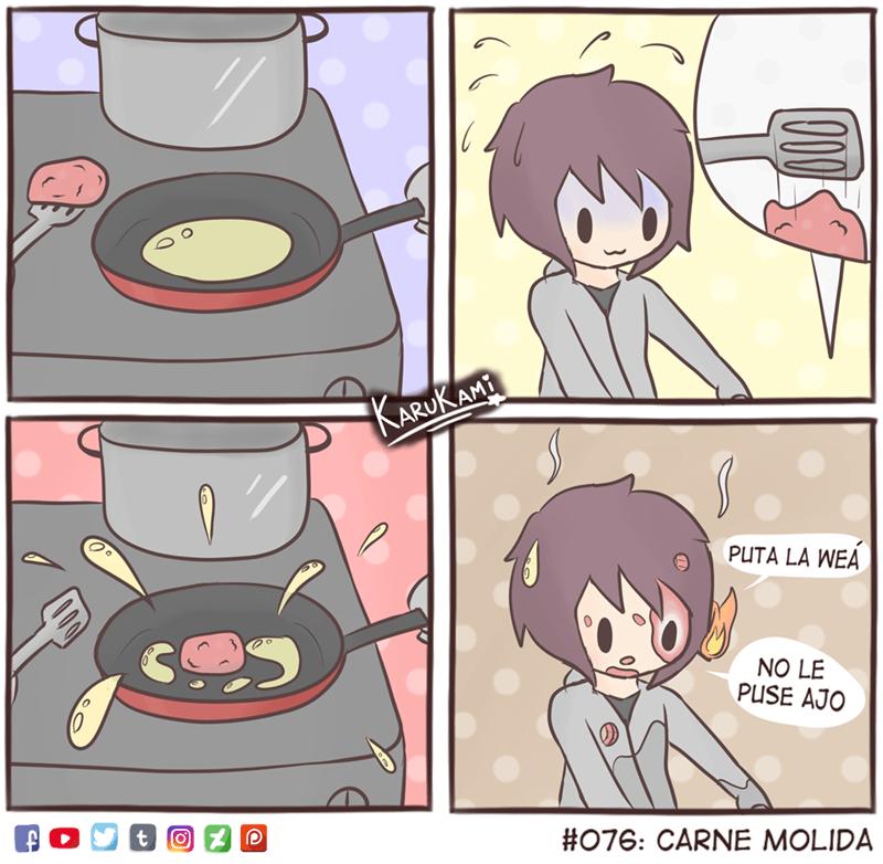 cuando haces carne molida y se te olvida el ajo