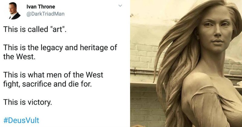 Sexist claims that a sculpture of a woman is the epitome of western male art, and gets fact checked.