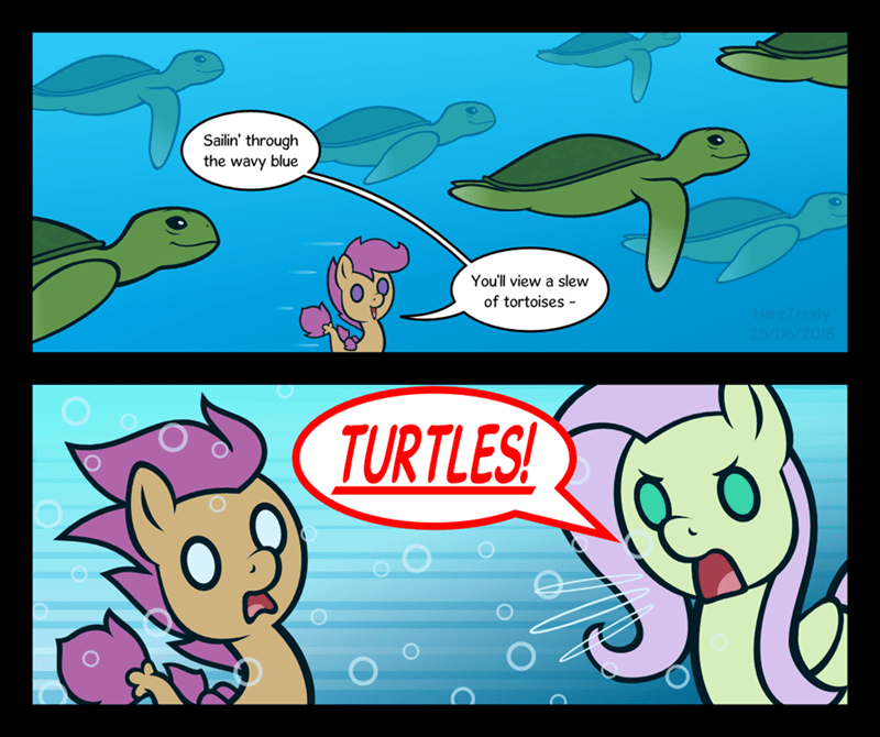 surf and/or turf hare trinity comic fluttershy Scootaloo - 9181974784