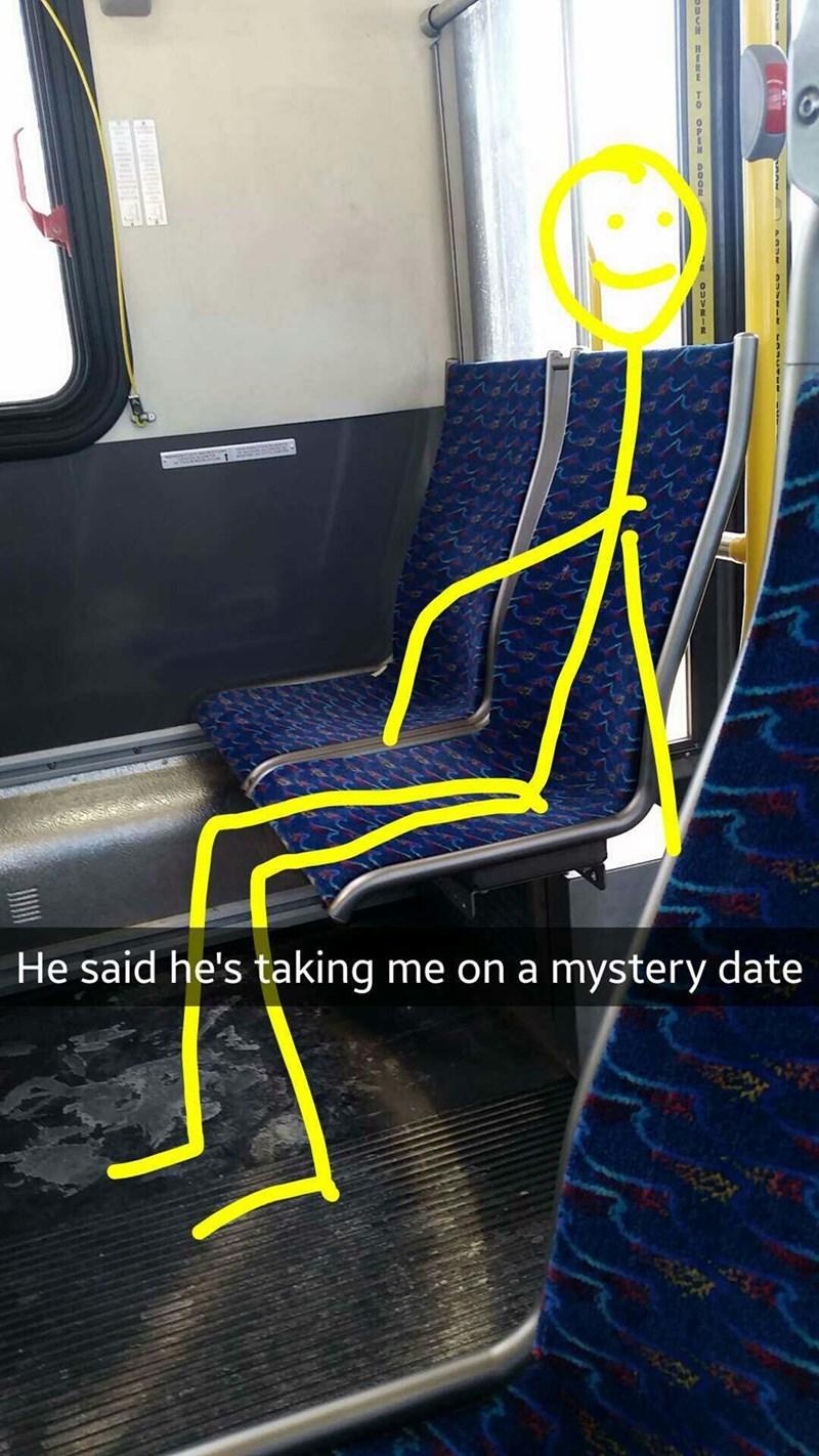 Stick-figure boyfriend taking girl on a mystery date