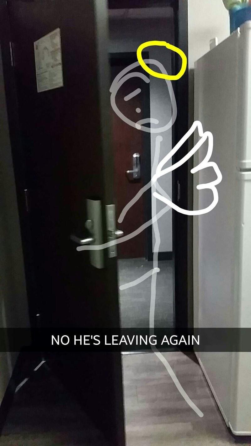 Door - NO HE'S LEAVING AGAIN