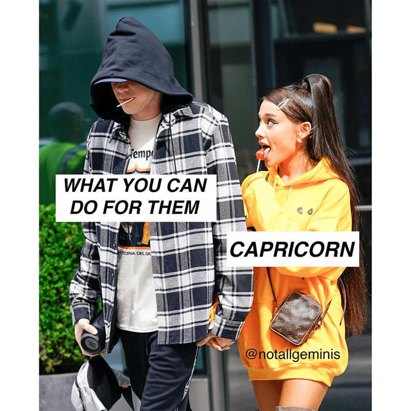 Clothing - emp WHAT YOU CAN DO FOR THEM CAPRICORN ASTORIA DEL GR @notallgeminis