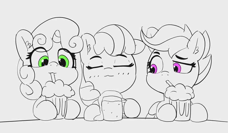Sweetie Belle apple bloom puns pabbley Scootaloo - 9182534912