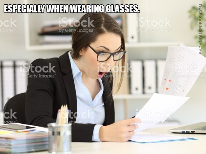 Product - ESPECIALLYWHEN WEARING GLASSES istock by Getty Images iStock ock images by Gelty indges Siock Stock iStocl by Get dges bGetty Images Sttock tock ck atty mages hages cety des SADANDUSELESS.COM