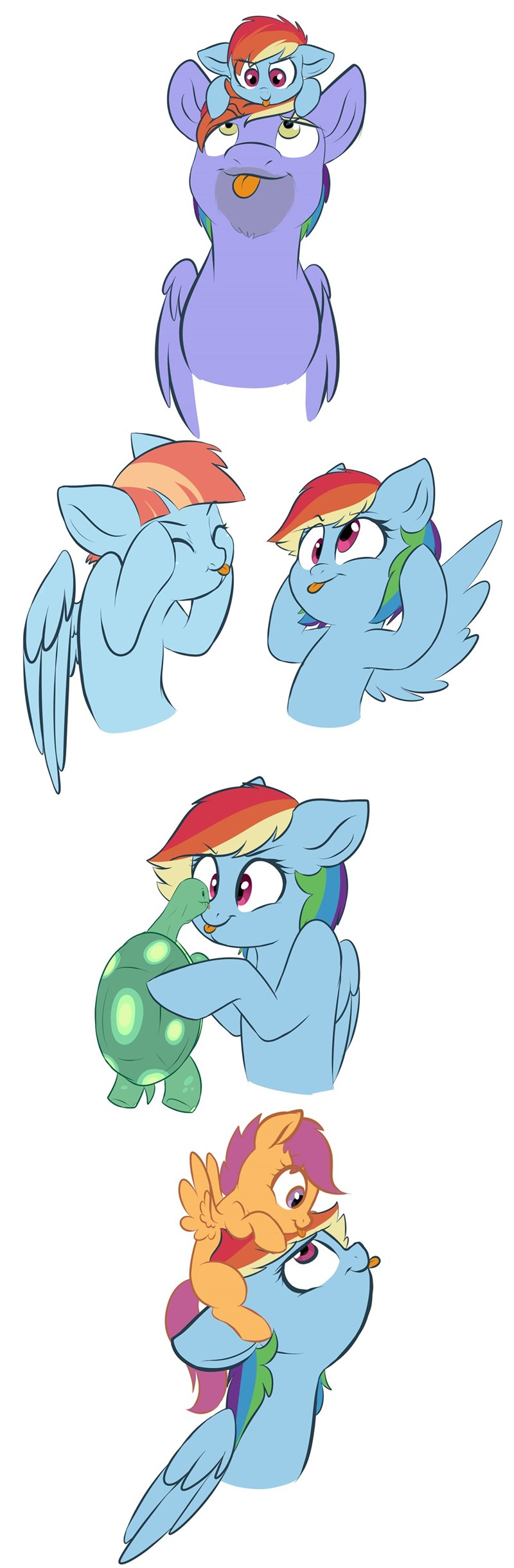 blep bow hothoof doodle-mark windy whistles tank comic Scootaloo rainbow dash - 9183169792