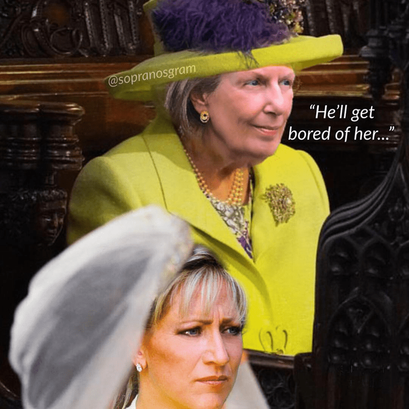 "meme - Headgear - @sopranosgram ""He'll get bored of her... 11"