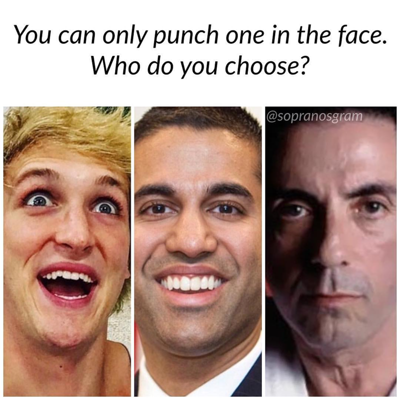 meme - Face - You can only punch one in the face. Who do you choose?  @sopranosgram