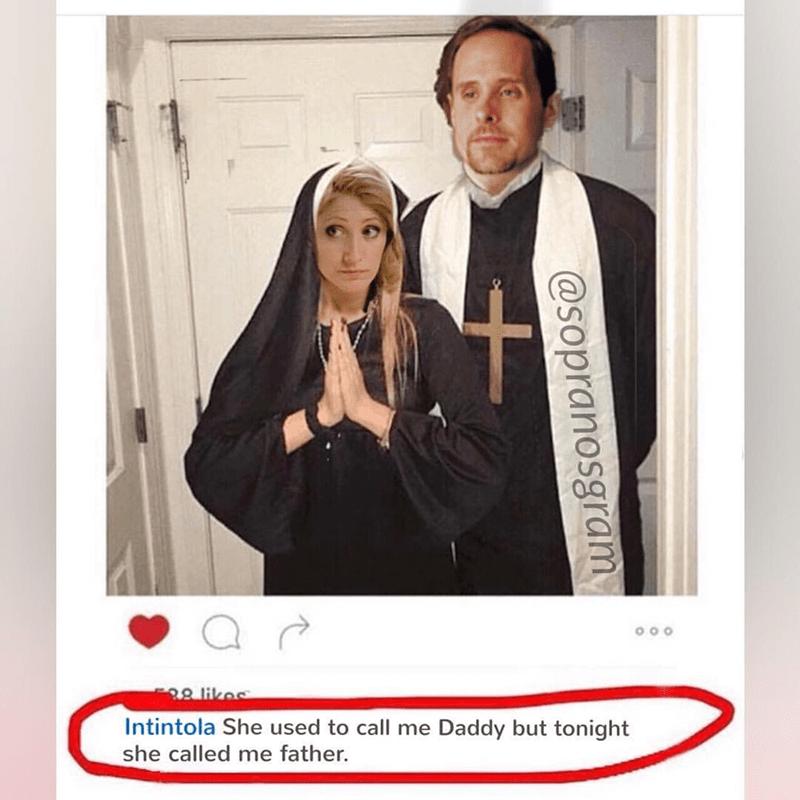 meme - priest and nun