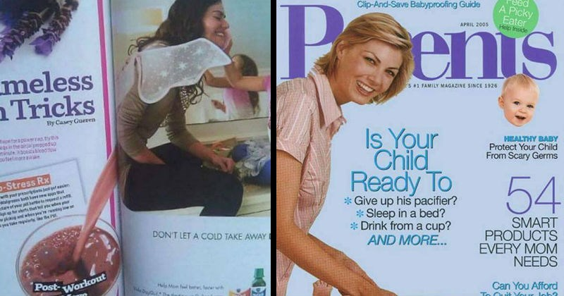 Magazine and newspaper layout fails that make the content look inappropriate, sinister and filthy.